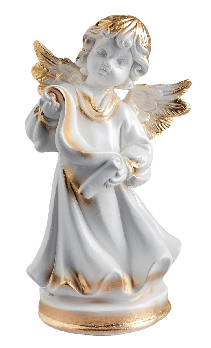 Статуэтка Premium Gips Ангел со свитком, 12 х 14 х 24 см1184725Фигурка ангела изготовлена из натурального материала. Является оберегом, который защищает дом и людей, живущих в нем, от мелких неприятностей и неудач. Если вы хотите проявить заботу о родных или близких, то подарите такую фигурку на свадьбу, день рождения или по любому другому поводу. Сувенир поможет выразить теплые чувства, ведь он говорит о вашем желании видеть человека под защитой ангела-хранителя, который будет оберегать его от всех недоброжелателей и невзгод.