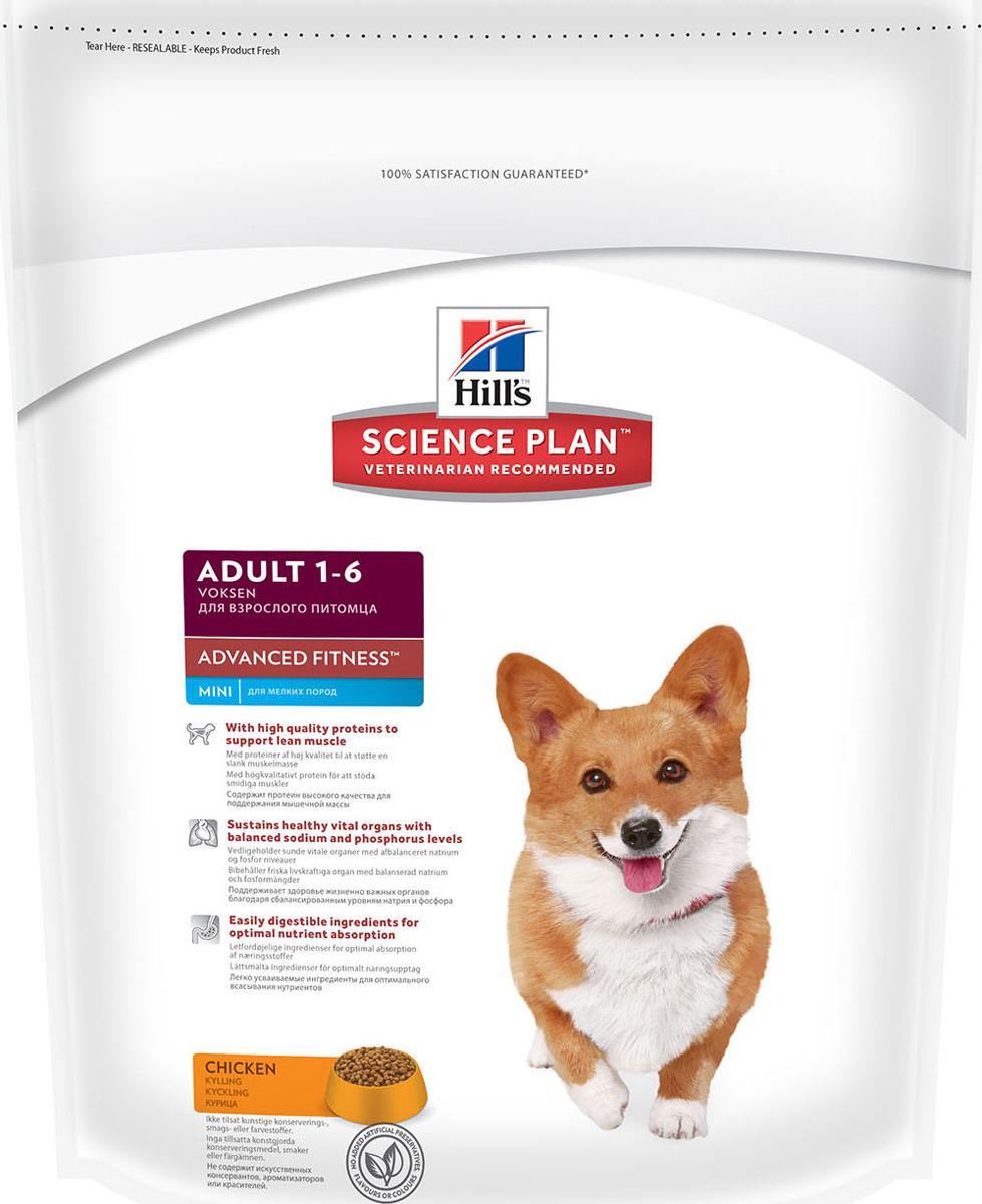 Корм сухой Hill's Science Plan Advanced Fitness Mini для собак мелких и средних пород от 1 до 7 лет, с курицей, 800 г