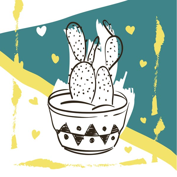 Картина Экорамка Cactus 1 30x30 см, Холст