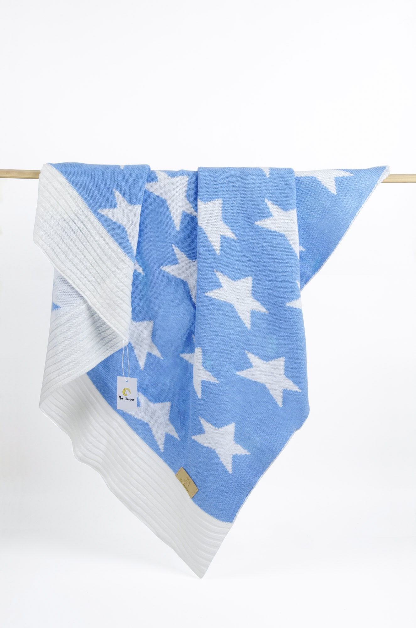 Детский плед Ma Licorne Star, голубой