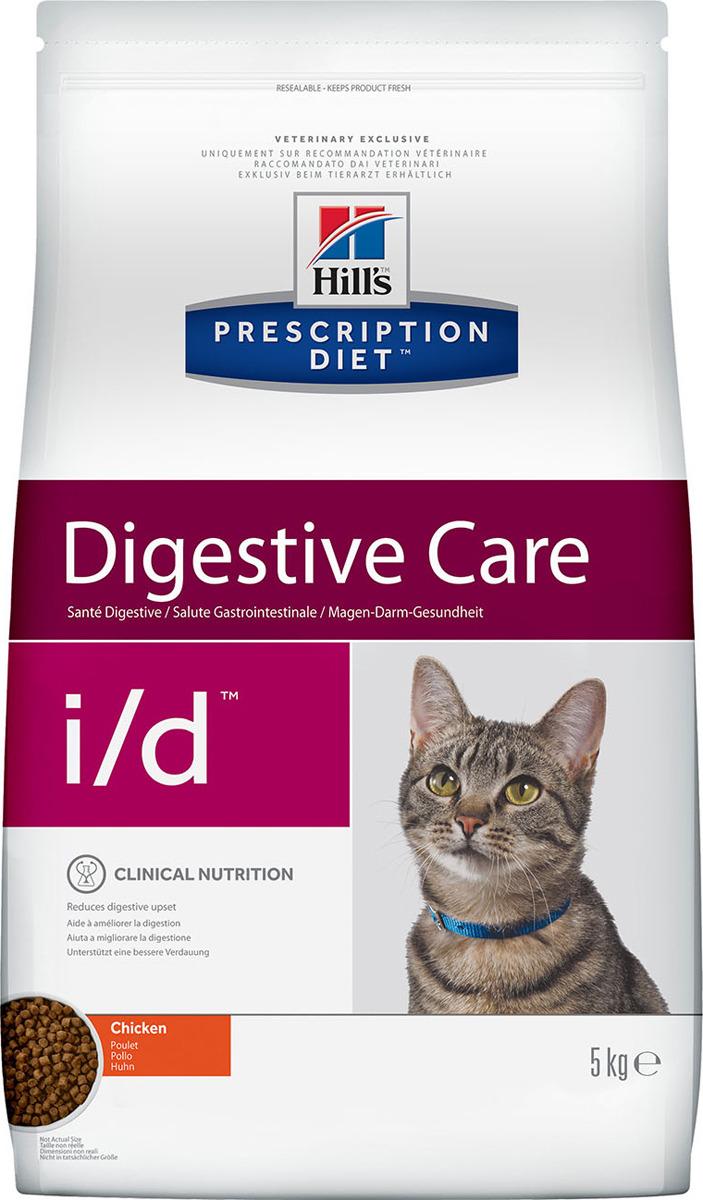 Корм сухой Hill's Prescription Diet i/d Digestive Care для кошек для поддержания здоровья ЖКТ, с курицей, 5 кг