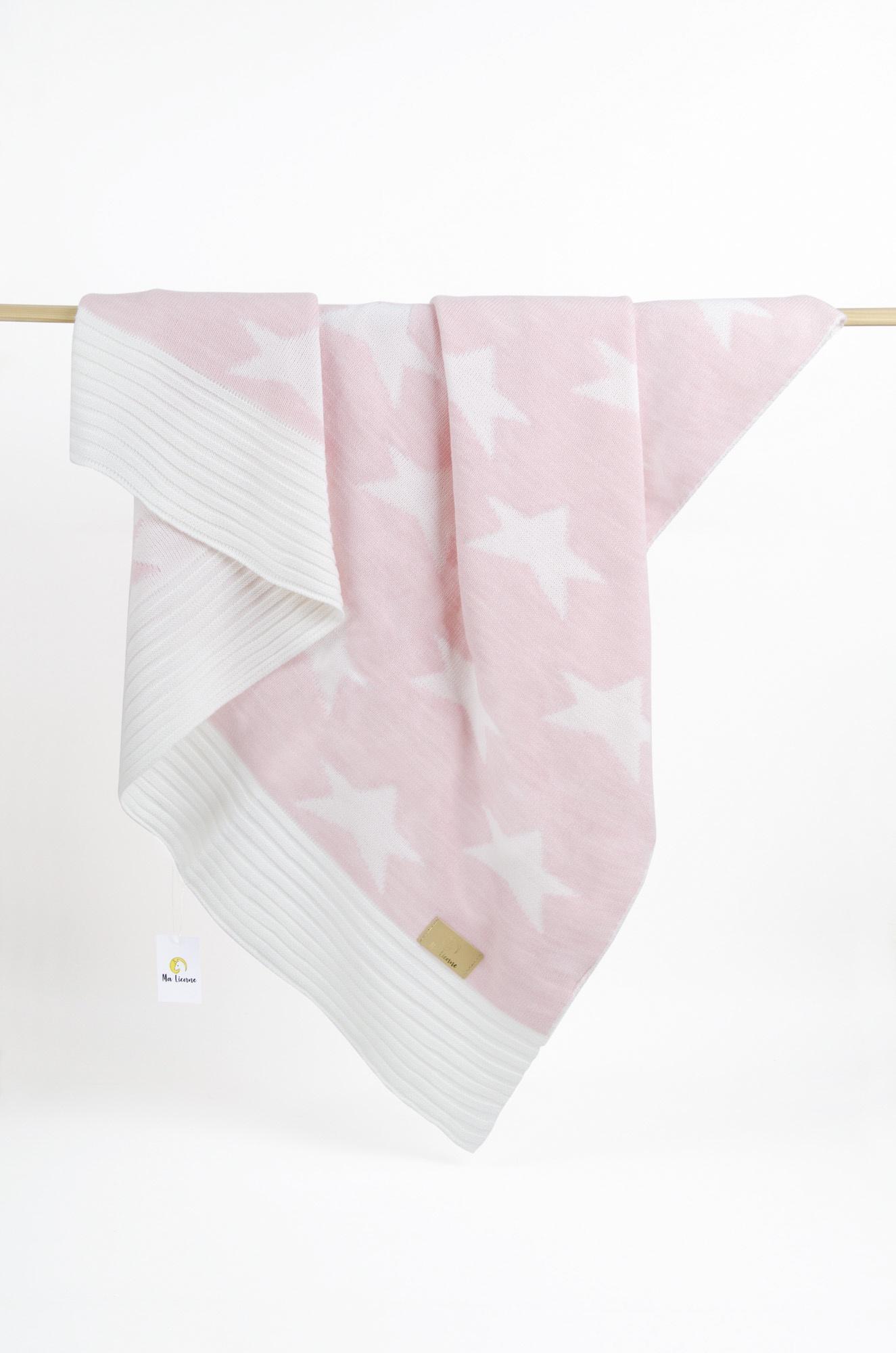 пледы Плед детский Ma Licorne Star rose (розовый), 1х1 м