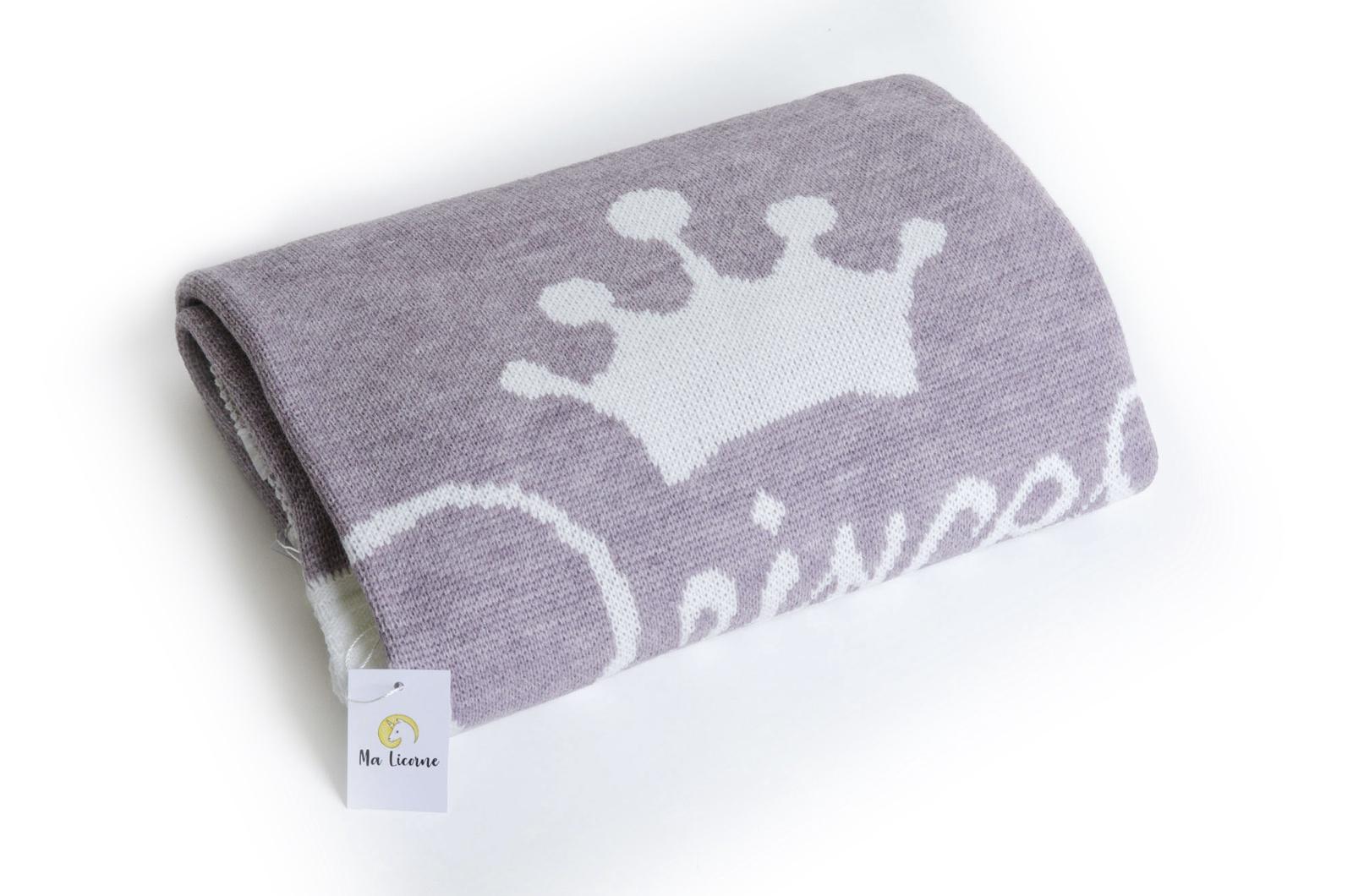 пледы Плед детский Ma Licorne Princesse violet (фиолетовый), 1х1 м