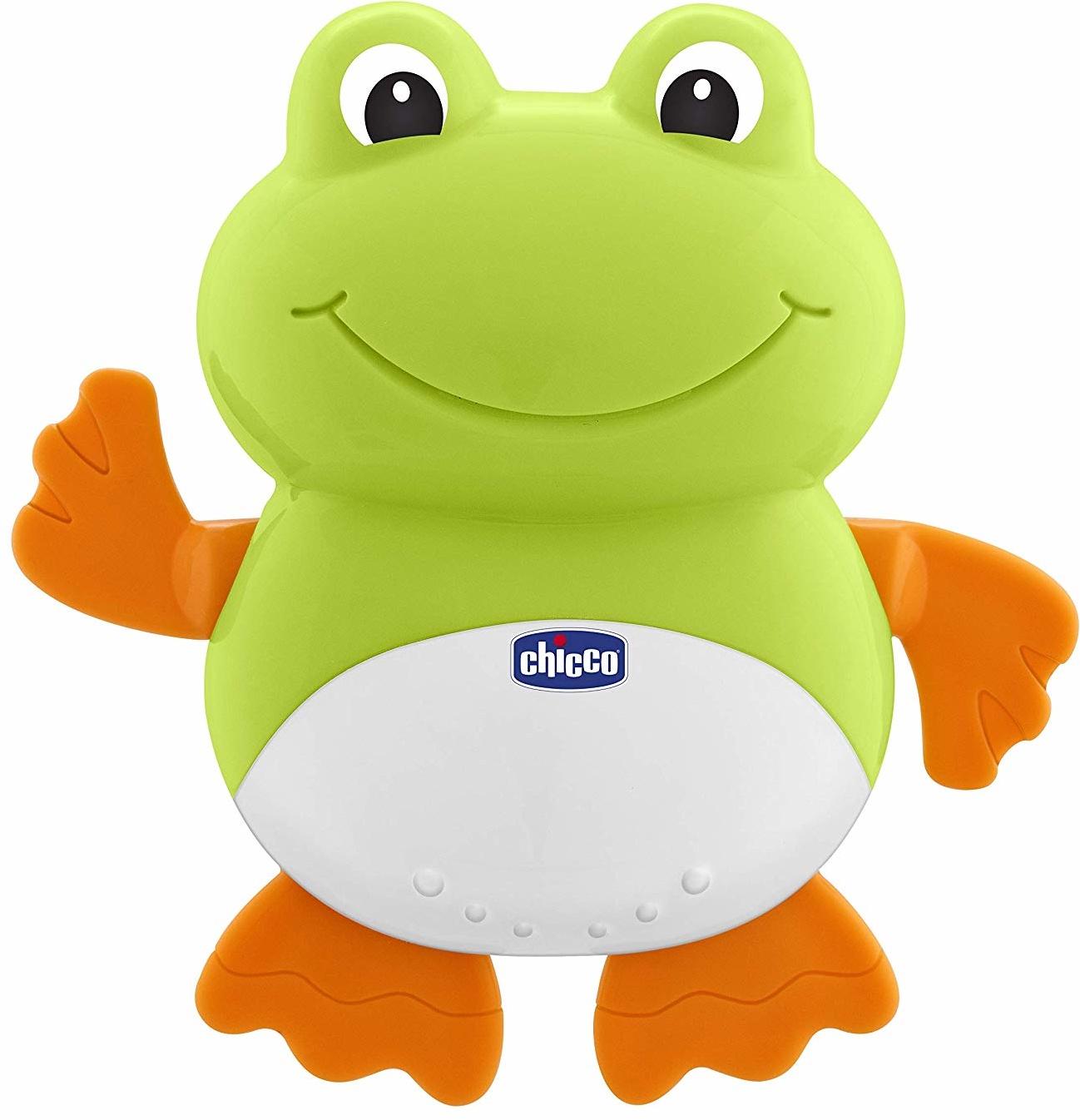 Игрушка для ванной Chicco Лягушонок какие игрушки интересны для малыша 8 месяцев фото