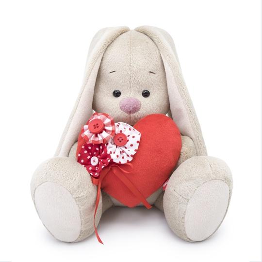 Мягкая игрушка Зайка Ми с красным сердечком 23 см