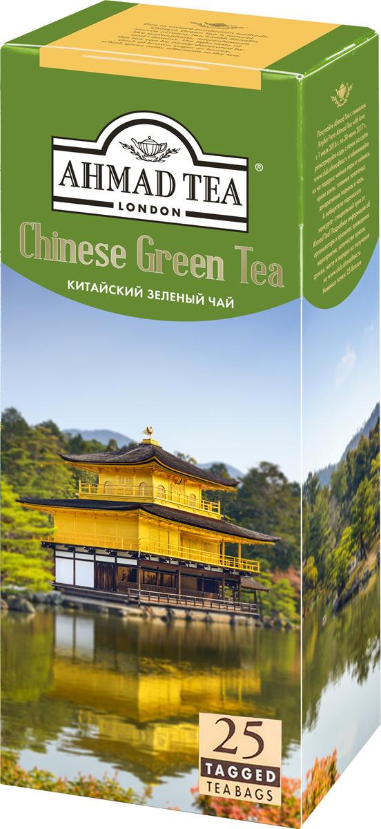 Ahmad Tea китайский зеленый чай в пакетиках, 25 шт ahmad tea english tea no 1 черный чай в пакетиках с ярлычками в конвертах из фольги 25 шт