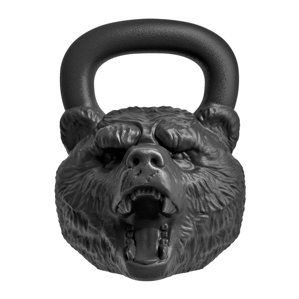 Гиря Heavy Metal Медведь 16 кг, черный гиря iron head медведь 32 0 кг