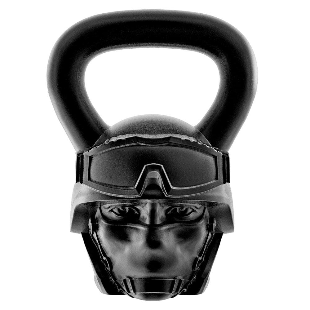 Гиря Heavy Metal Боец 20 кг, черный гиря iron head медведь 32 0 кг