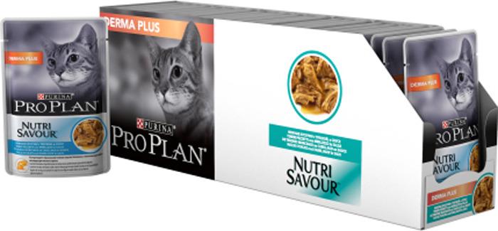 Консервы Pro Plan Nutri Savour, для взрослых кошек с чувствительной кожей, с треской, 24 шт x 85 г12342771Состав: мясо и продукты переработки мяса, экстракты растительного белка, рыба и продукты переработки рыбы (в том числе треска 4%), минеральные вещества, аминокислоты, клетчатка, масла и жиры, продукты переработки растительного сырья, загустители, различные сахара, красители, витамины. Минеральные вещества МЕ/кг: витамин A: 1040; витамин D3: 145; витамин E: 250; мг/кг: таурин: 470; железо: 12; йод: 0,37; медь: 0,95; марганец: 1,8; цинк: 25.