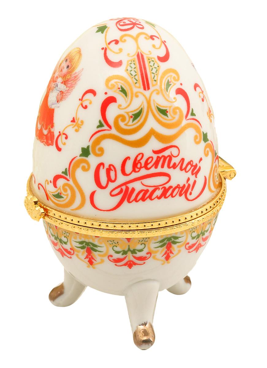 """Яйцо-шкатулка """"Ангелочки"""", 2979357, высота 7,5 см"""