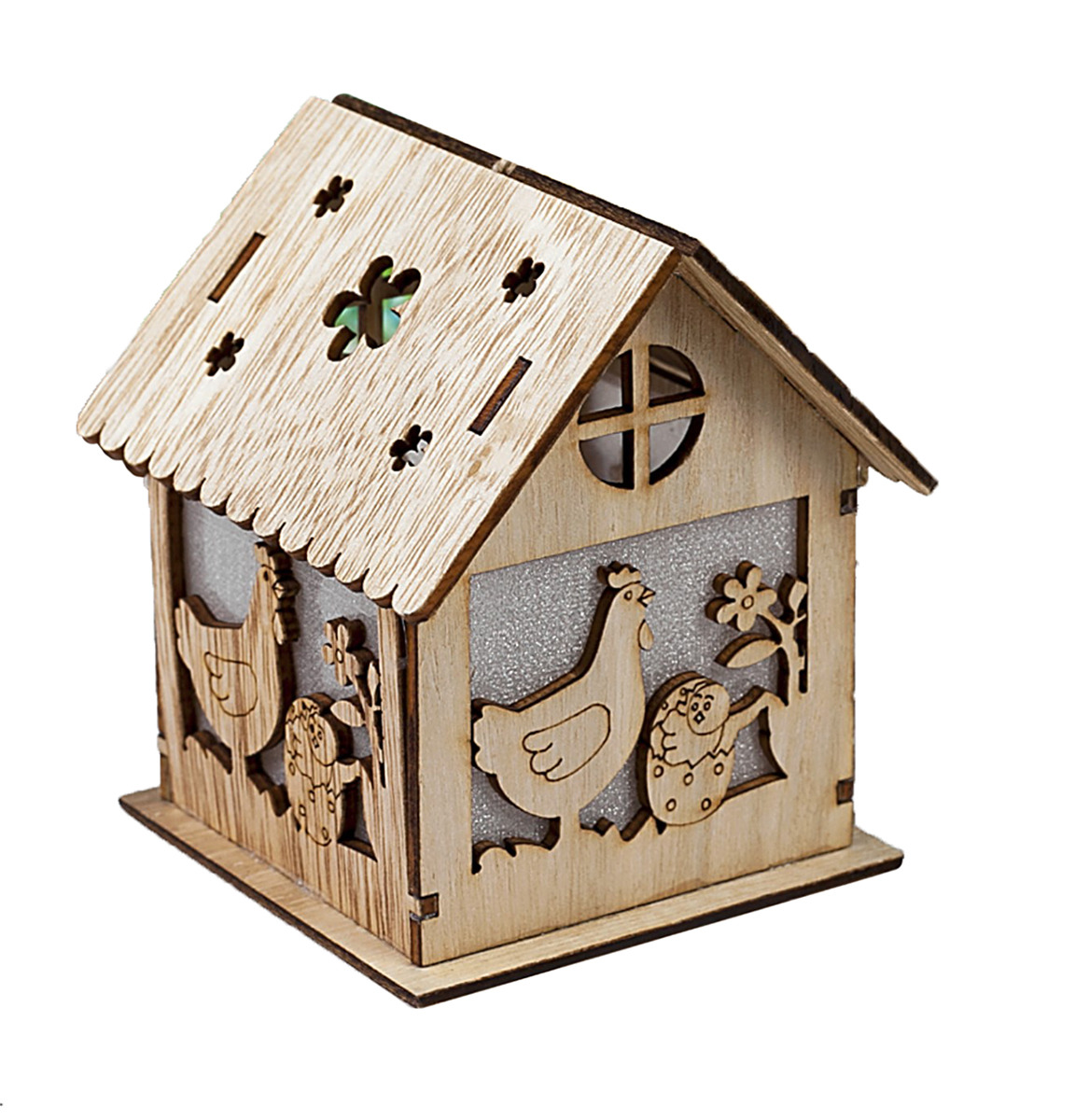 Фигурка декоративная Праздничные курочки, с подсветкой, 3590003