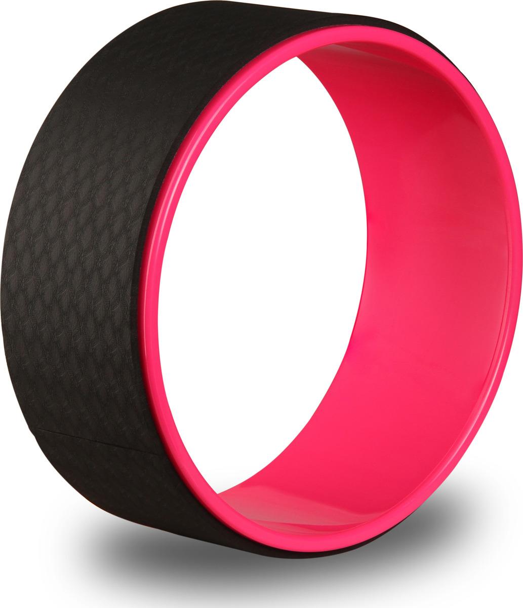 Колесо для йоги Indigo, цвет: розовый, черный, диаметр 32 см колесо для йоги indigo цвет розовый черный диаметр 32 см