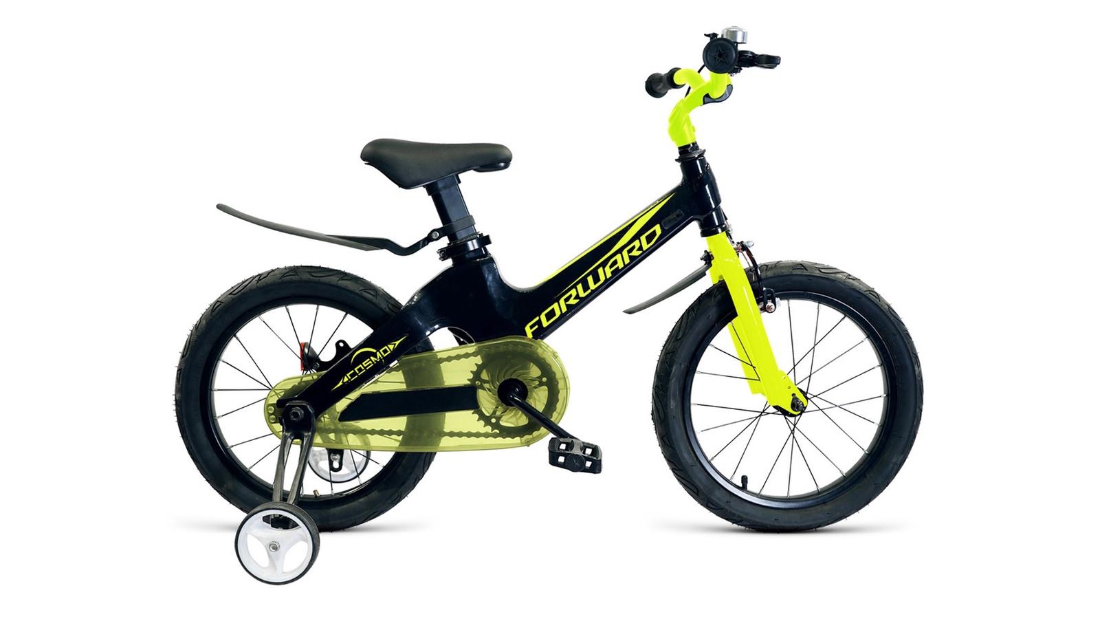 Велосипед Forward Cosmo, черный, зеленый велосипед forward zigzag 2019