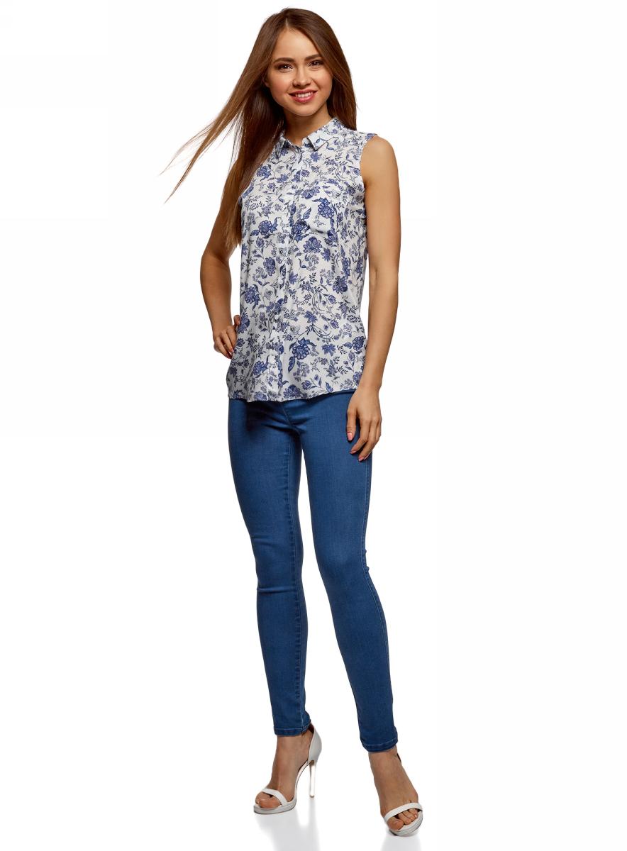 Фото - Рубашка oodji Ultra рубашка женская oodji цвет темно синий 13l11015 26357 7900n размер 38 44 170