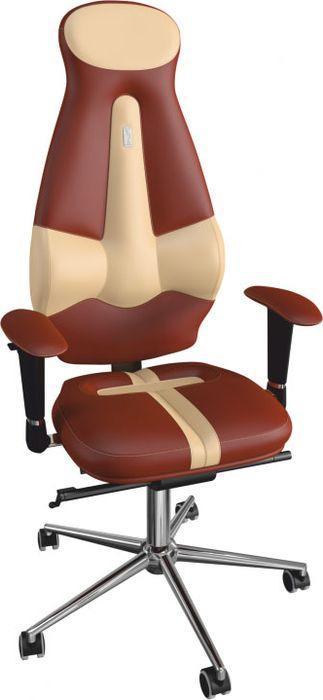 Компьютерное кресло Kulik System Galaxy, цвет: коричневый, песочный