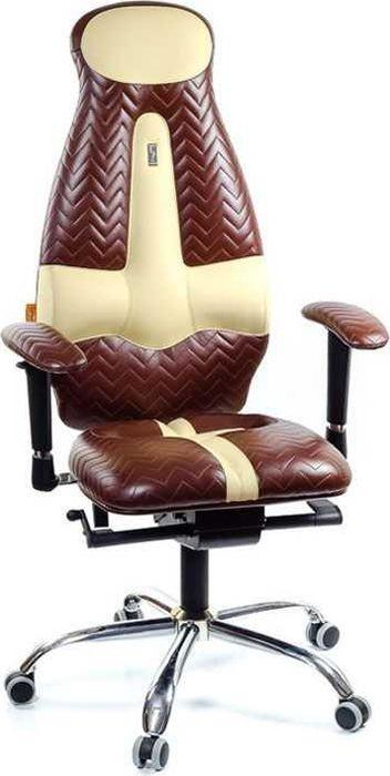 Компьютерное кресло Kulik System Galaxy Zeta, цвет: коричневый, песочный