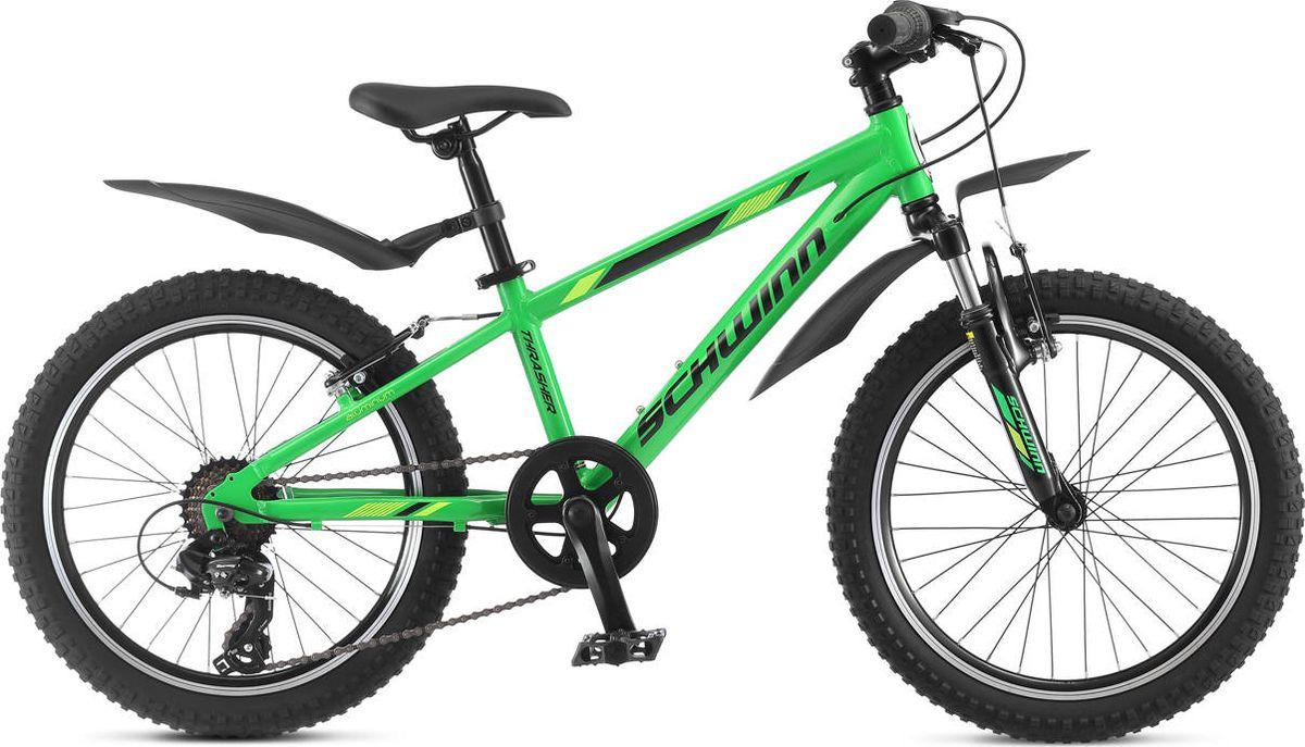 Велосипед детский Schwinn Thrasher, зеленый, 7 скоростей