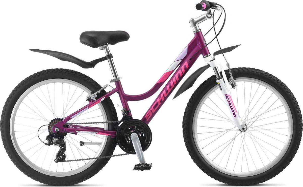 Велосипед детский Schwinn Breaker 24 Girls, фиолетовый, 21 скорость недорго, оригинальная цена