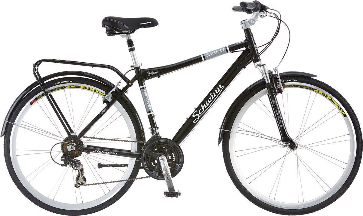 Велосипед городской Schwinn Discover, черный, 21 скорость