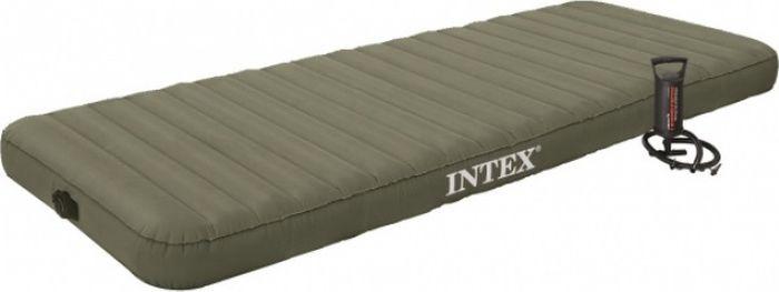 Матрас надувной Intex, с68711, с ручным насосом, 76 х 191 х 15 см цена