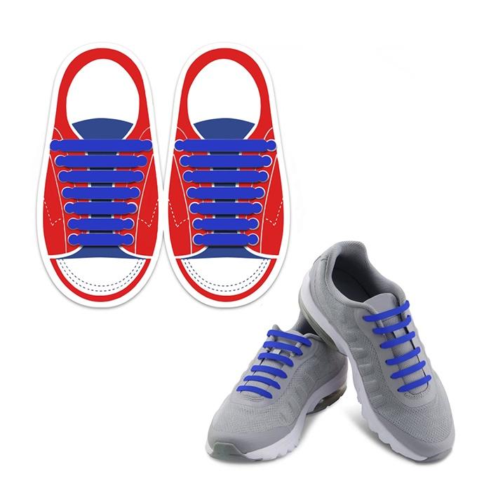 Шнурки Lumo LM-SLS-07, синий шнурки markclub силиконовые для обуви shn 1909 синий