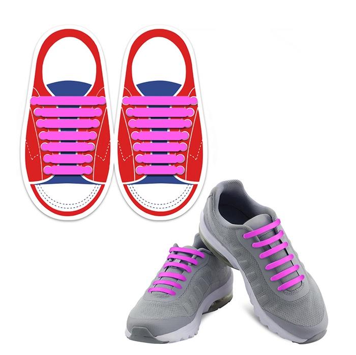 Шнурки Lumo LM-SLS-09, розовый шнурки markclub силиконовые для обуви shn 1909 синий