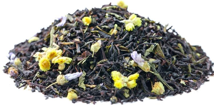 Чай листовой Gutenberg Князь Багратион, черно-зеленый, 500 г46001Смесь цейлонских, индийских чаев и китайского чая сенча с добавлением цветков бессмертника и мальвы, с нежным ягодным ароматом.