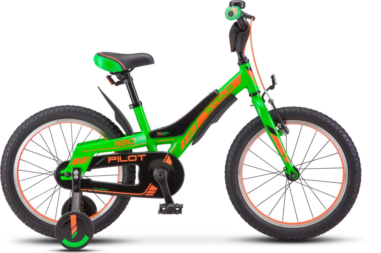 Велосипед Stels Pilot-180 16, KUBC0046952018, зеленый stels pilot 410 2017