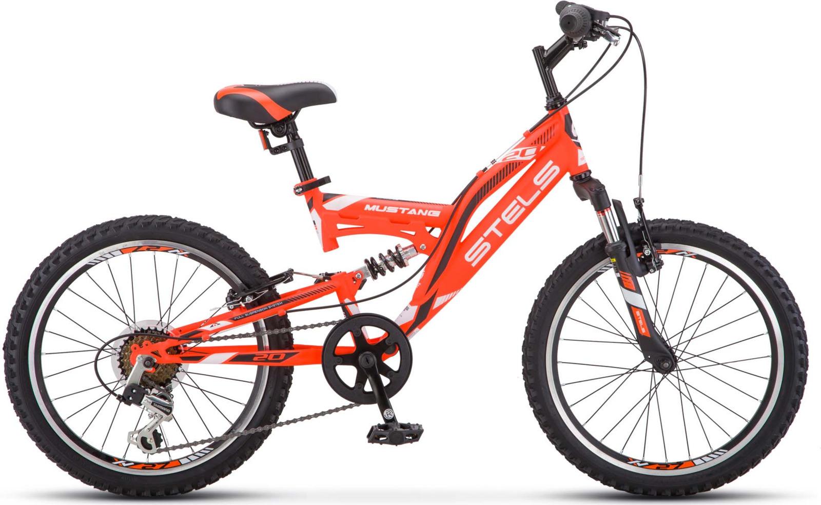 Велосипед Stels Mustang V 13, KUBC0049792018, красный велосипед stels challenger v 2016