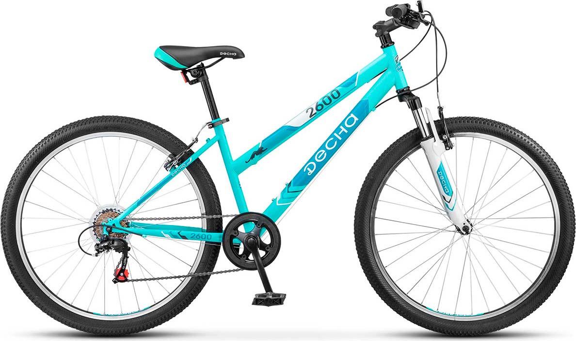 Велосипед Stels Десна-2600 V 15, LU071351, бирюзовый велосипед stels challenger v 2016