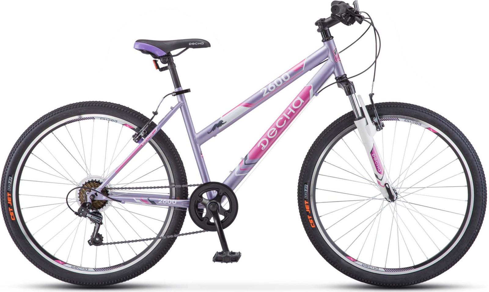 Велосипед Stels Десна-2600 V 17, LU071566, сиреневый