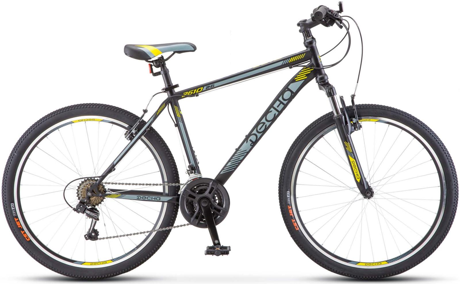 Велосипед Stels Десна-2610 V 16, KUBC0044782017, черный цена в Москве и Питере