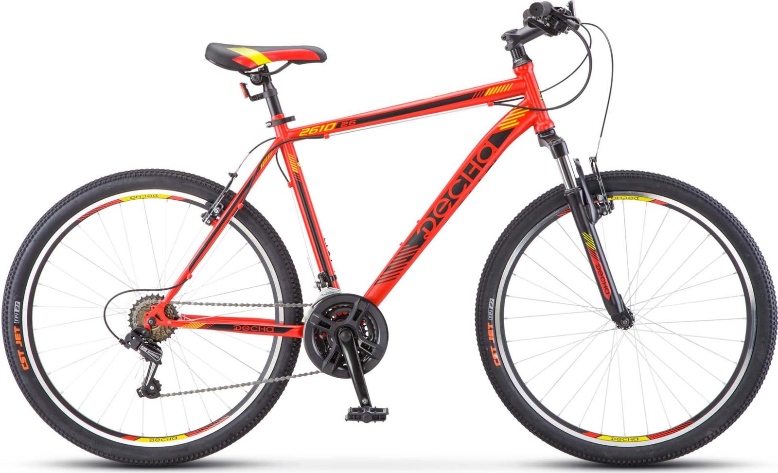 Велосипед Stels Десна-2610 V 26, KUBC0044762017, красный велосипед stels challenger v 2016