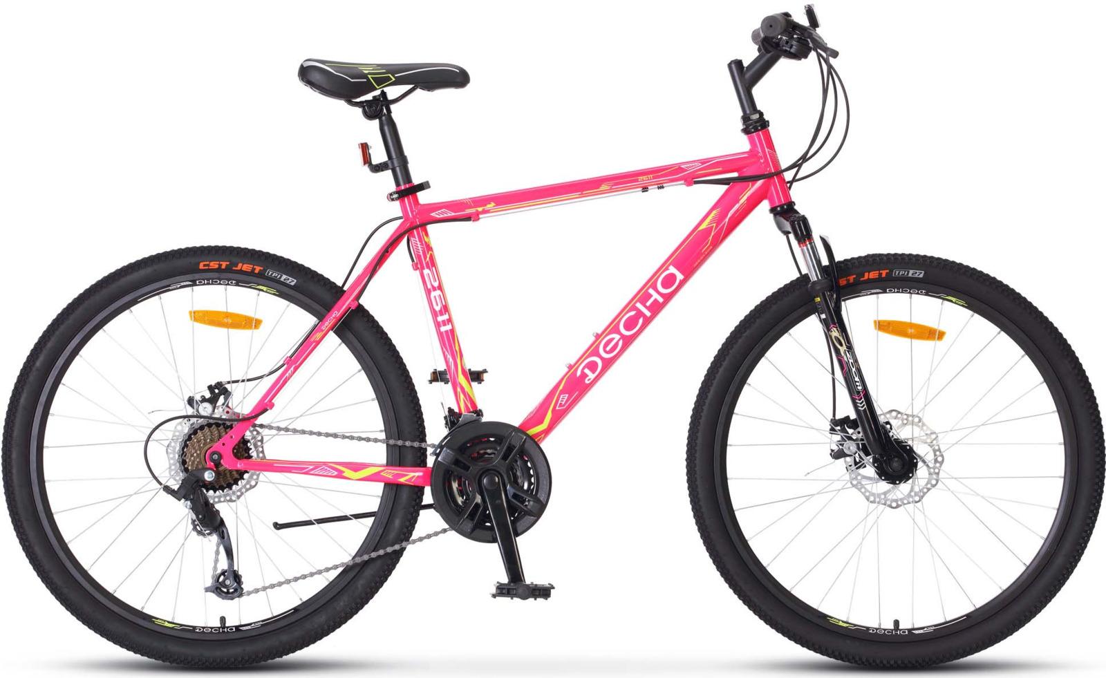 Велосипед Stels Десна-2611 MD 17, KUBC0047112018, розовый велосипед десна 2611 md 26 v010 17 жёлтый