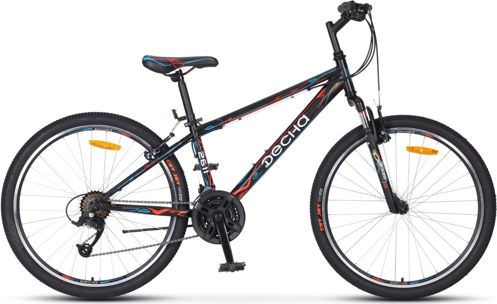 Велосипед Stels Десна-2611 V 26, KUBC0047122018, черный цены