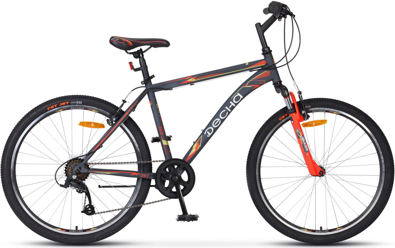 Велосипед Stels Десна-2612 V 18, KUBC0047242018, серый велосипед stels challenger v 2016