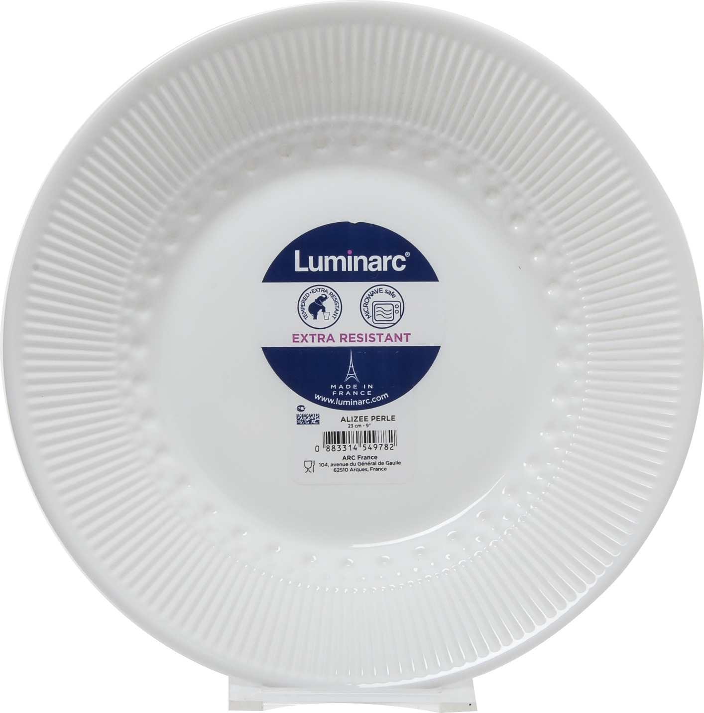 Тарелка глубокая Luminarc Ализе Перл, L6347, белый, диаметр 23 см тарелка глубокая luminarc ализэ перл n4836 белый диаметр 23 см