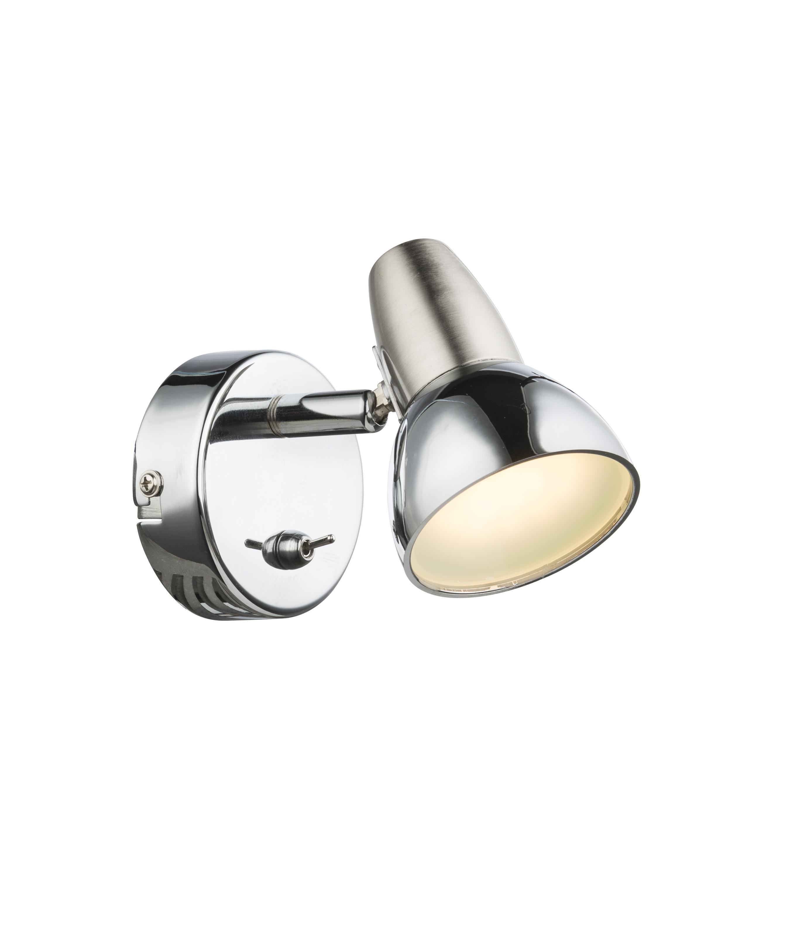Настенно-потолочный светильник Globo Cappuccino, серебристый globo светильник настенно потолочный