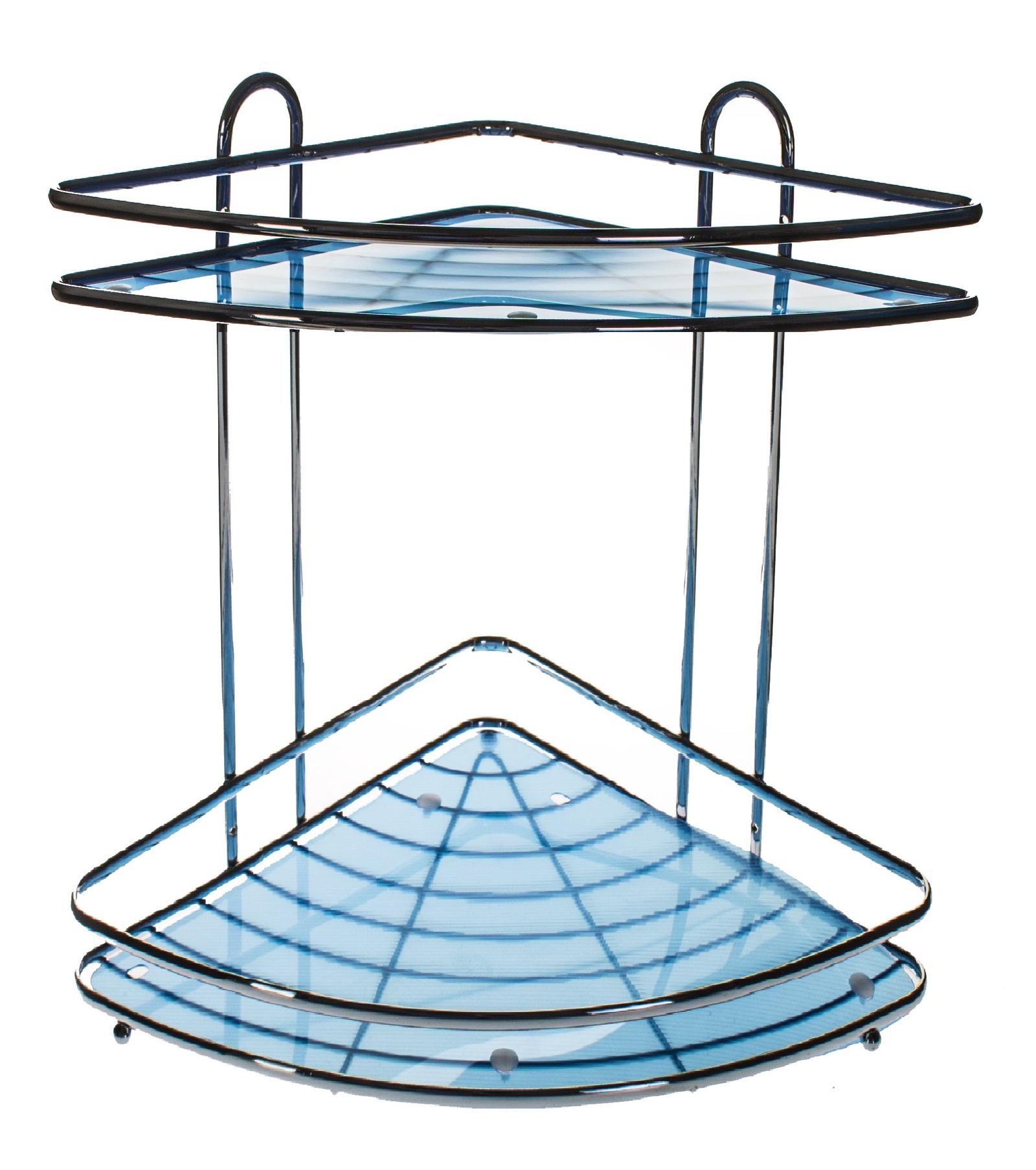 Полка для ванной комнаты Vanstore Полка подвесная, серебристый, синий полка для ванной комнаты vanstore 061 77 серебристый