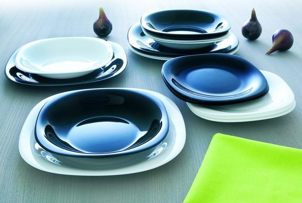 Набор столовой посуды Luminarc Карин, N1489, черный, белый набор столовой посуды luminarc нью карин n2955 белый черный