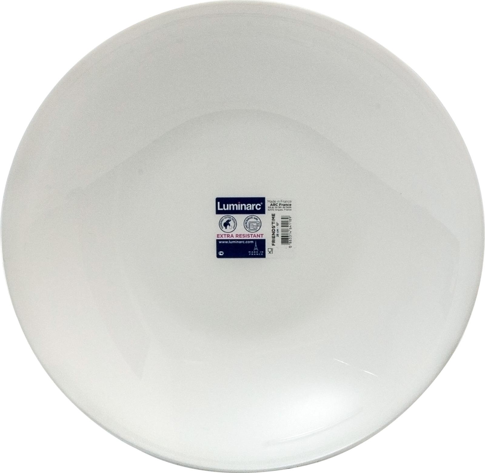 Блюдо Luminarc Френдс Тайм, N3186, диаметр 26 см блюдо д пасты luminarc френдс тайм блэк декор кругл 29см стекло