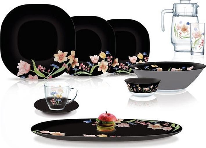 Набор столовой посуды Luminarc Карин Менуэт Блэк, N8126, черный набор столовой посуды luminarc нью карин n2955 белый черный