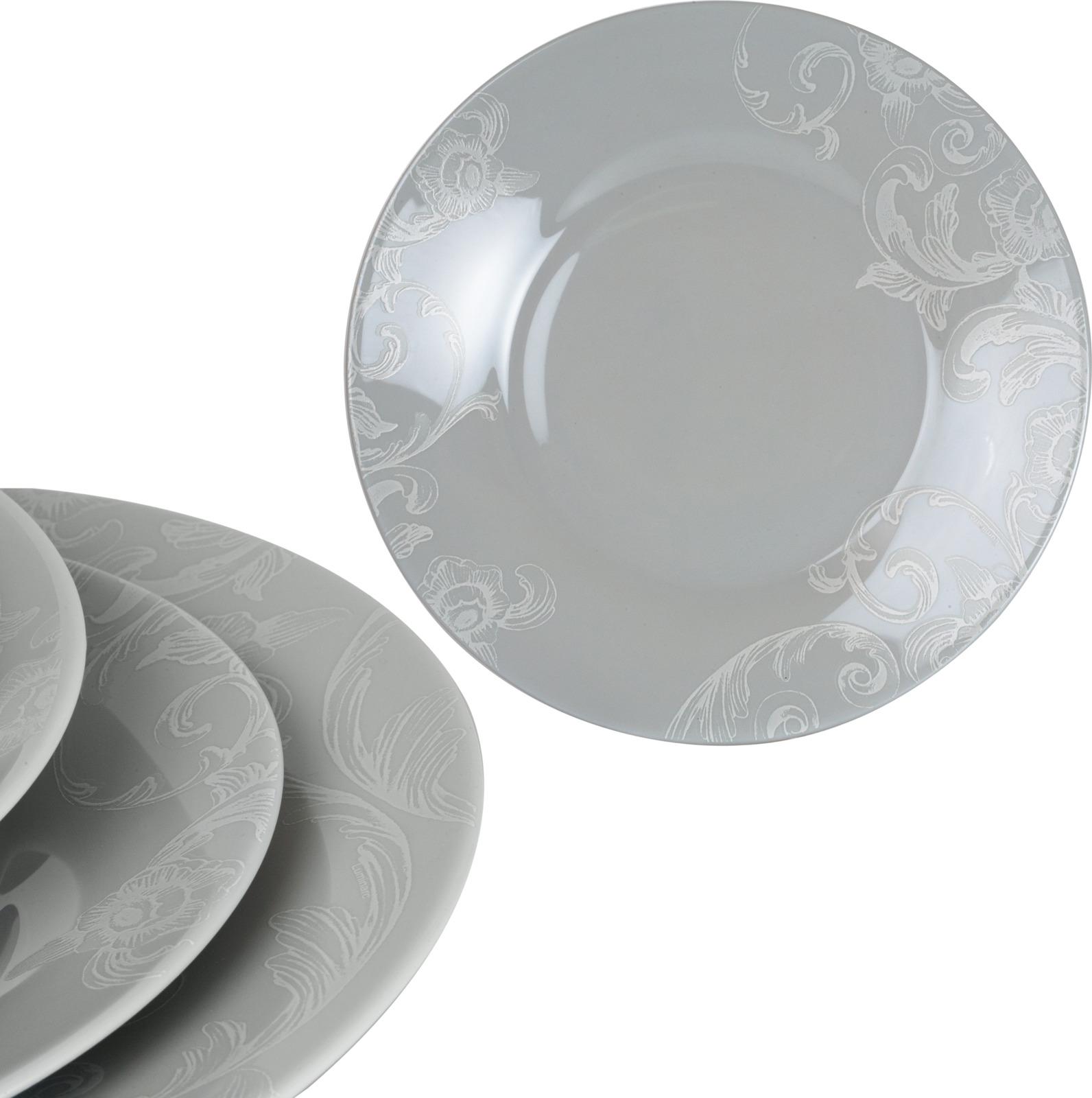 Тарелка десертная Luminarc Дусин, P0239, серый, диаметр 22 см тарелка десертная luminarc bulla 22 см
