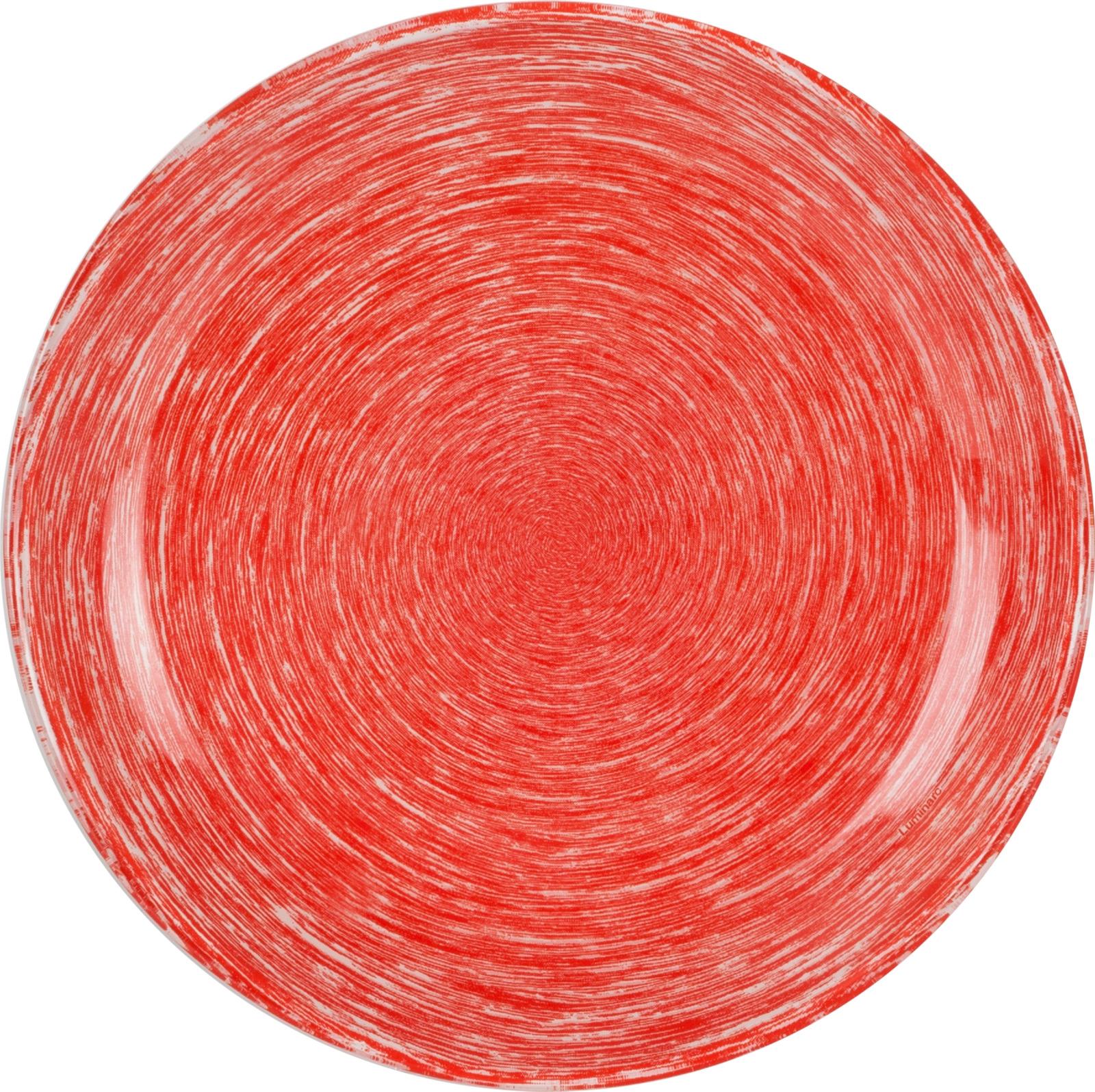 Тарелка десертная Luminarc Брашмания, P1380, красный, диаметр 20.5 см тарелка суповая luminarc brush mania 20 см красный