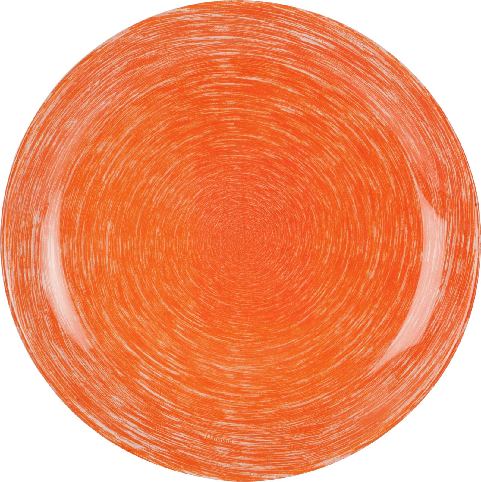 Тарелка десертная Luminarc Брашмания, P1381, оранжевый, диаметр 20.5 см