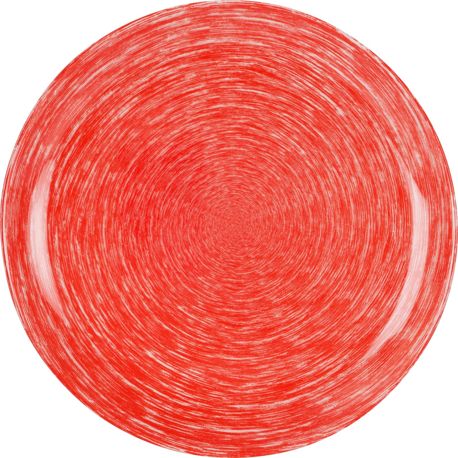 Тарелка Luminarc Брашмания, P1400, красный, диаметр 26 смP1400ТарелкаLuminarcБрашмания подойдет для сервировки вторых блюд из птицы, рыбы, мяса или овощей, а также станет отличным подарком к любому празднику.
