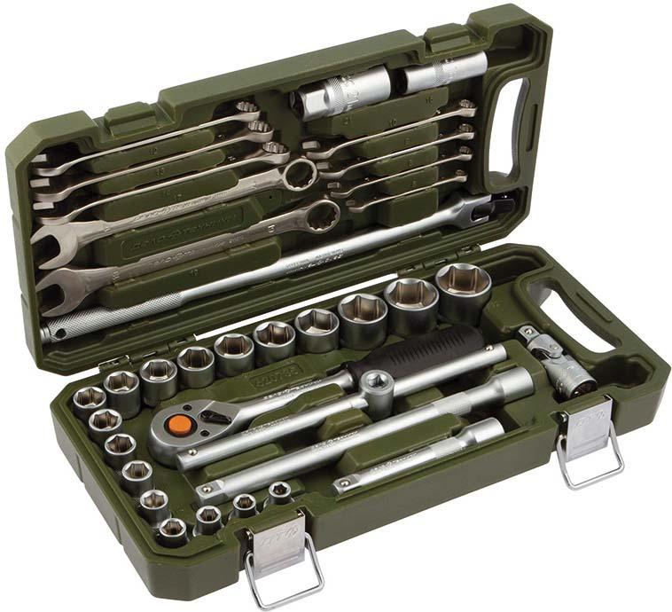 Фото - Набор головок Дело техники с комбинированными ключами, 1/2, 35 предметов, 620735 набор головок дело техники с комбинированными ключами 1 4 1 2 77 предметов 620777