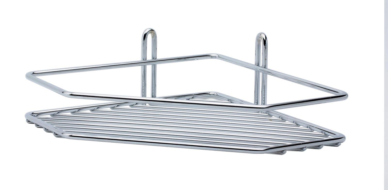 Полка для ванной комнаты Vanstore Полка угловая, серебристый полка для ванной комнаты vanstore 061 77 серебристый