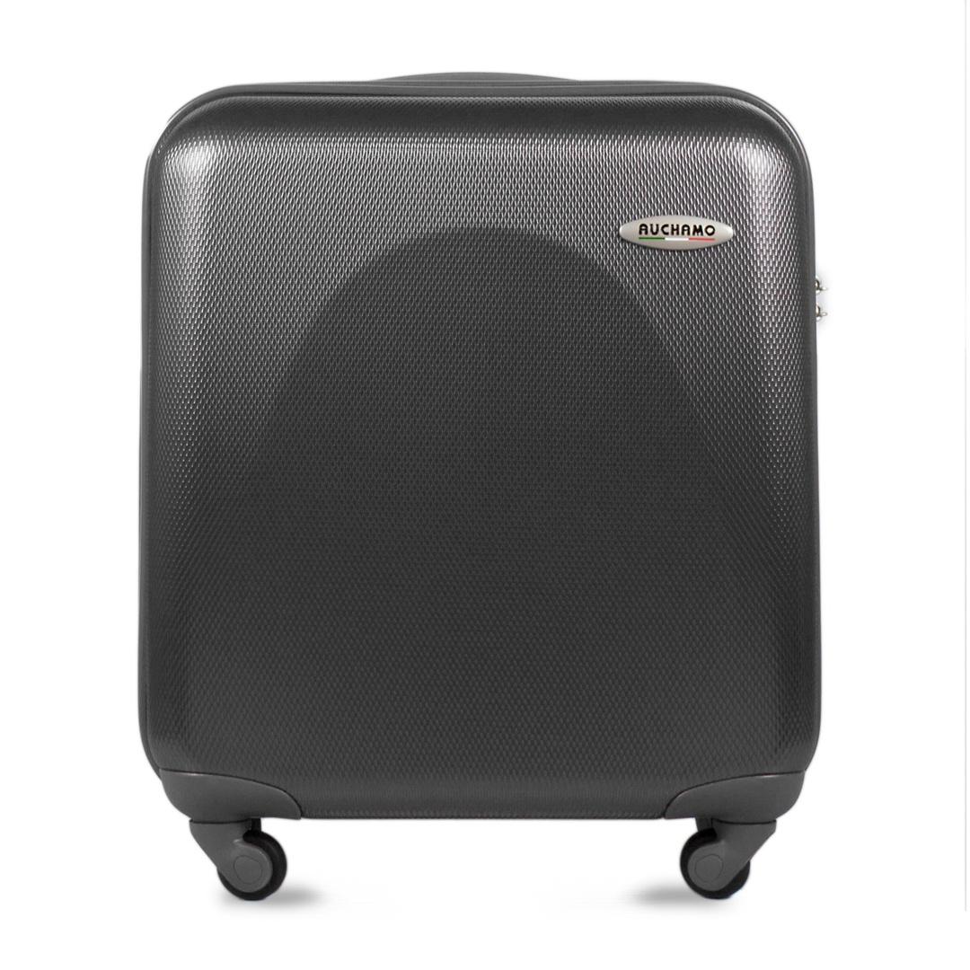 Чемодан AUCHAMO PC JL-19-2-014-19, серыйJL-19-2-014-19Пластиковый чемодан на колесах, итальянского бренда AUCHAMO. Чемодан изготовлен из 100% поликарбоната высокого качества. Чемодан имеет 4 колеса и обладает высокой манёвренностью и степенью надёжности. Багаж оснащен кодовым замком TSA (с функцией таможенного досмотра), соответствующий общепринятым стандартам безопасности и удобства эксплуатации. Эргономичная телескопическая ручка делает транспортировку чемодана легкой и удобной. Чемодан проходит по размерам в качестве ручной клади и может путешествовать с вами в салоне самолёта.