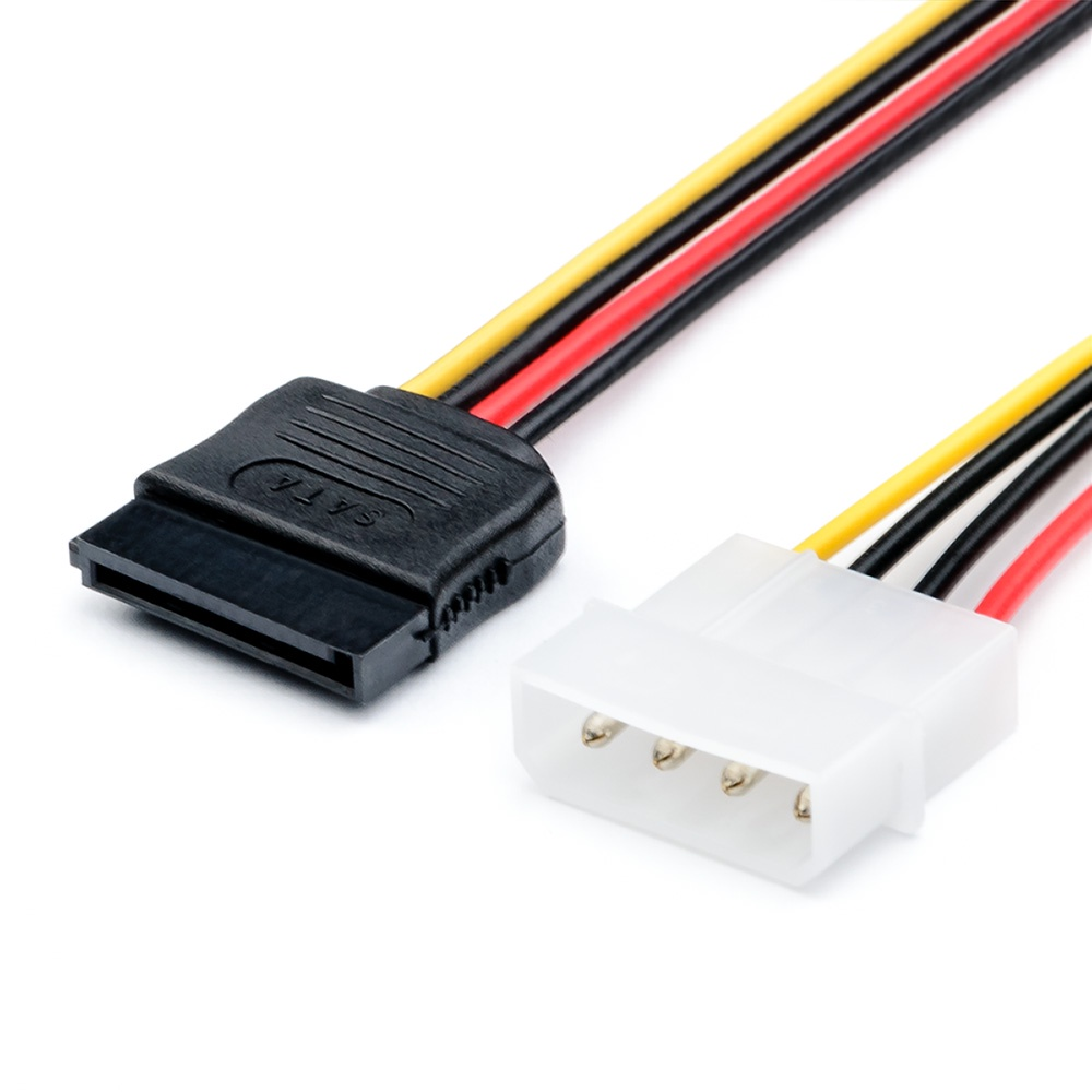 Кабель ATcom питания SATA - Molex, АТ3798 molex to sata splitter power cable